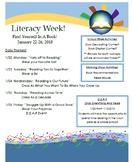 Literacy Week Flier