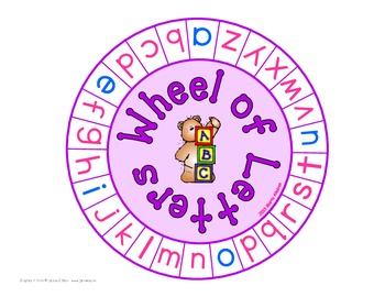 Literacy Wheels - Manipulatives for your Literacy Center