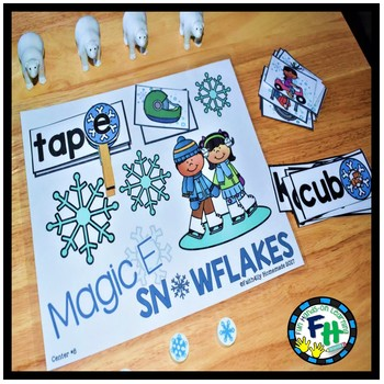 Literacy Winter Center: Magic E Snowflakes