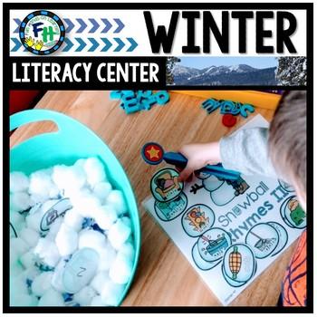 Literacy Winter Center: Snowball Rhymes