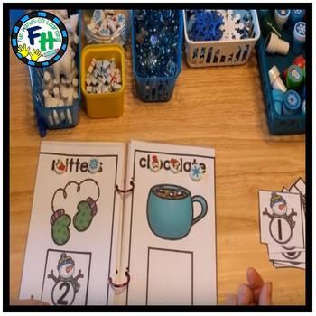 Literacy Winter Center: Syllables Interactive Book