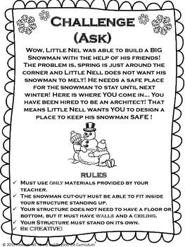 Winter Literacy STEM or STEAM Challenge_Children's book STEM Challenge