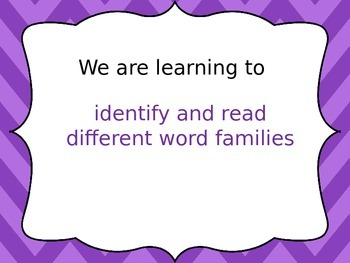 Literacy Word Families e,o,u Powerpoint - Reading, Spelling & Vocabulary