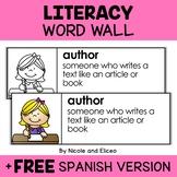 Literacy Word Wall Vocabulary