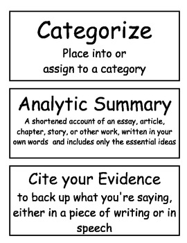 Word Wall Cards (Common Core) 3-5