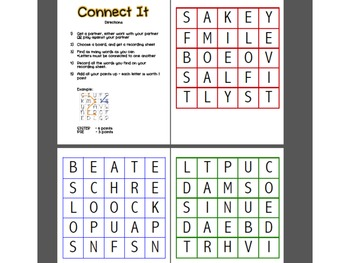 Literacy Word Work Center Pack- 6 centers(with Student Directions)