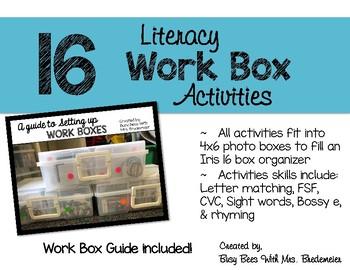Literacy Work Box Activities