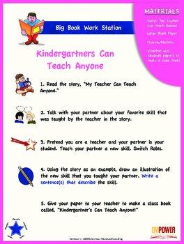 "Literacy Work Station Big Book Bundle: ""My Teacher Can Teach Anyone"""