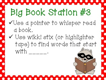 Literacy Work Station Signs (Primary Grades)