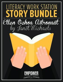 "Literacy Work Station Story Bundle: ""Ellen Ochoa Astronaut"