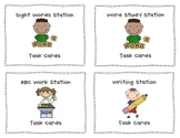 Literacy Work Station Task Cards