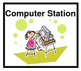 Literacy Work Station and Center Label Cards