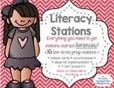 Literacy Work Stations Pack ~ 16 Low to No Prep Stations!