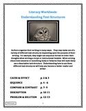 Literacy Workbook: Understanding Text Structures Grades 3-5