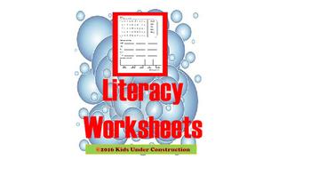 KINDERGARTEN - SECOND GRADE LITERACY WORKSHEETS