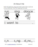 Literacy Worksheets - All About Me