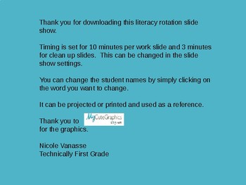 Literacy Workshop Rotation