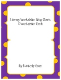 Literacy Workstation Cards and Flow Chart