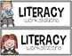 """Literacy Workstation Labels and Matching """"I Can"""" Charts"""