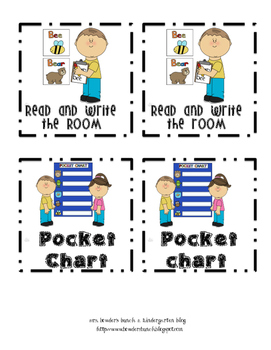 Literacy Workstation Signs