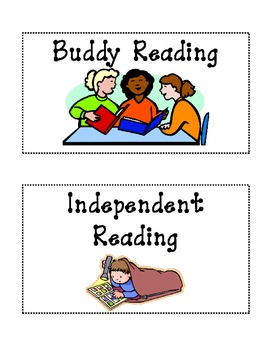 Literacy Workstation or Center Labels