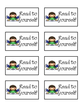 Literacy Workstation or Center Rotation Cards