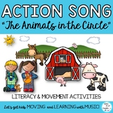 """Educational Song: """"The Animals in the Circle"""" Literacy Activities, Game, Mp3's"""