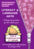 Literacy, Grammar, Vocabulary and Writing - Kinder & Grade 1 - All Year