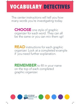 Literacy and Learning Centers for the Big Kids BASIC POSTER PACK