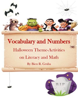 Literacy and Math Activities Halloween Theme
