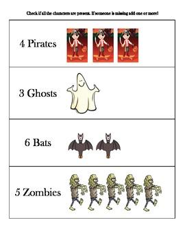 Literacy and Math Activities Halloween Theme