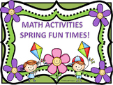 """Spring """"Addition and Subtraction"""" (Math Activities)"""