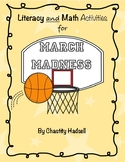 Literacy and Math Activities for March Madness