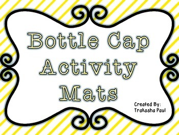 Literacy and Math Bottle Cap Activity Pack