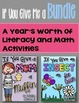 Literacy and Math Bundle for the Year!