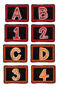 Literacy and Math Center Letters and Numbers