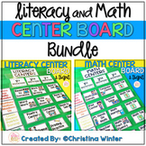Literacy and Math Center Rotation Board | Center Signs EDITABLE