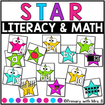 Literacy and Math Centers BUNDLE