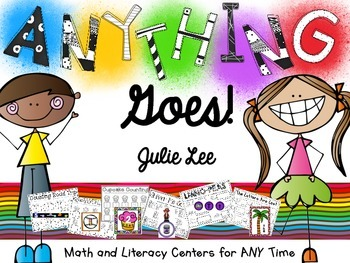 Literacy and Math Centers for ANY theme Kindergarten