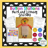 Literacy and Math Centers for first grade Celebrate Button Day on Nov. 16th