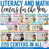 Literacy and Math Centers for the Year BUNDLE