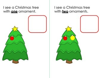 FREE! Literacy & Math Christmas Activities: Counting; Numbers; Number Words; KDG
