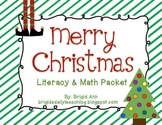Literacy and Math Christmas Activities Packet - Holiday Theme