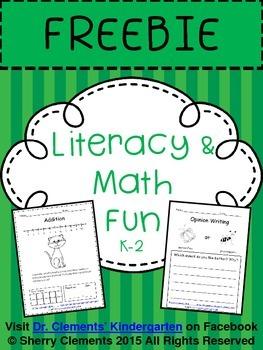 Literacy and Math FREEBIE