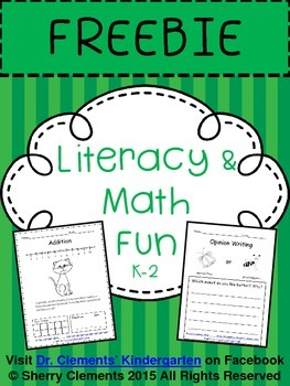 FREE DOWNLOAD : Literacy and Math FREEBIE