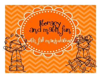 Literacy and Math Fun with Fall Manipulatives