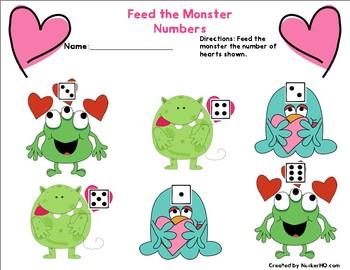 Math Monster Morning Bin for February