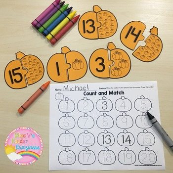 Literacy and Math Center Puzzles: Fall Edition