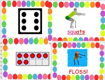 Literacy and Math Review Fitness Excercises