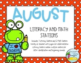Literacy and Math Stations Kindergarten August